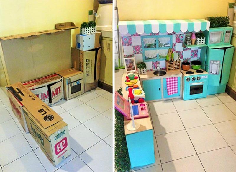 Mamá crea una espectacular cocina para su hija hecha solo con ...