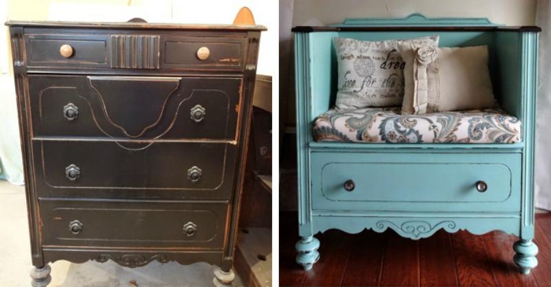 15 ingeniosas y hermosas ideas para renovar esos viejos - Renovar muebles antiguos ...